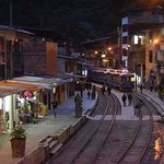 The main street of Aguas Calientes - lots to watch