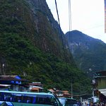 The buses up to Machu Picchu leave from about 3 minutes' walk away