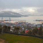 Lyttelton from the top of Port Hills