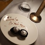 End of meal message to my wife, courtesy of the staff.
