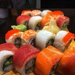 Rainbow Maki - packed with flavour, prepared with care and expertise and pretty as a picture