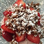 Cheesecake aux fraises et spéculos