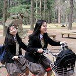 Nami Island, students