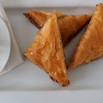Our baklava - made with local honey, toasted walnuts and thin layers of phyllo