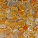 Candie orange peel - Almost everthing is made from scratch - we even candy our own orange peel
