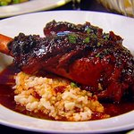 Slow braised Lamb Shank over Parmesan Risotto