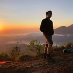 Sunrise with scenic view Mount Agong!