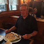 Bob is enjoying his scallops!