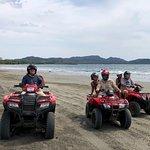 Riding the ATV's on Playa Conchal