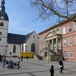 Detmold, Old Town, Market Square with Town Hall and Redeemer Church