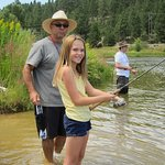 Great fishing on the beach of the Payette River around the corner.