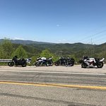 At the scenic overlook on the Dragon