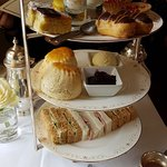 Delicious afternoon tea. The Honey Fool is so naughty and so nice.