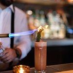 Rose + Fig cocktail at Rye Bar
