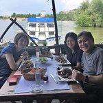 Dining near the river in Belgrade