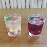 Our house sangria, red or white.