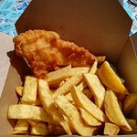 smaller portion of fish and chips