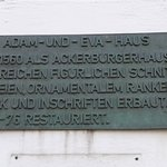 Paderborn, The Adam-and-Eve-House, plaque