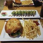 Boursin Burger and  Miss Moffitt Roll