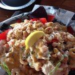 Lobster shrimp nachos!  So delish!