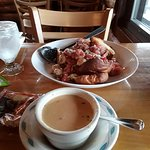 Lobster bisque and bruschetta