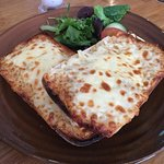 Mozzarella garlic bread.