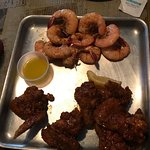 1/2 lb. shrimp and small (5) wings