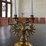 Soest, Burghofmuseum, Rittersaal, clandlestick