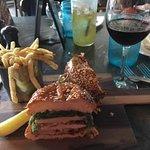 Chicken and Brie sandwich