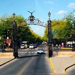 Portão Parque San Martin, Mendoza, vista de dentro para fora do parque