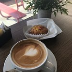 Coffee and egg muffin