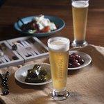 Greek starters - Olives and Dolmades