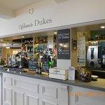The bar area inside the Dukes