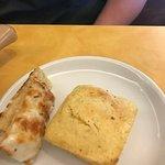 Corn bread and foccia bread