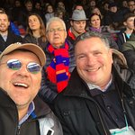 With Claude; we went to see a FC BArcelona Match