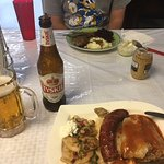 I had the combination platter, it was wonderful. The Polish beer was great too!