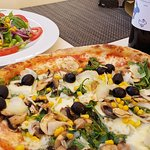 Vegetarian pizza with salad_large.jpg