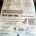 pizzas & more menu page