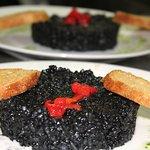Arroz negro de menú