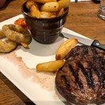 10oz Ribeye steak med to welldone