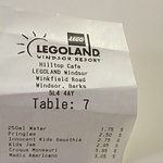 Price for food at LEGOLAND