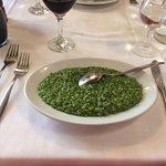 Risotto Verde, spinaci e formaggio