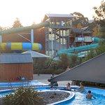 Hanmer Springs Pools & Spa has chutes at an extra $10