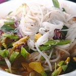 Rice noodle with curry