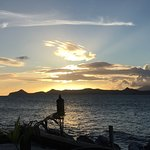 Sunset over St. Kitts peninsula