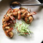Lunch menu - Goong Makham - Grilled Tiger Prawns with Sweet and Sour Tamarind Sauce