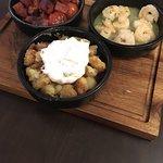 Chorizo, Prawns and Potatoes.