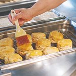 Fresh biscuits every morning on our breakfast buffet 8a-11a