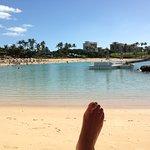 Beautiful lagoon - and my foot