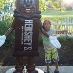 My little guy outside chocolate world